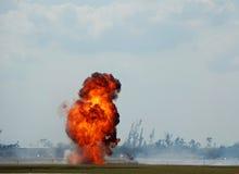 Esplosione esterna gigante Fotografia Stock Libera da Diritti