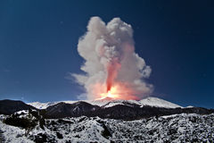 Esplosione Etna Fotografia Stock