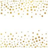 Esplosione festiva dei coriandoli Fondo di scintillio dell'oro Puntini dorati Pois dell'illustrazione di vettore Immagine Stock
