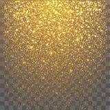 Esplosione festiva dei coriandoli Fondo per la carta, invito di scintillio dell'oro illustrazione vettoriale