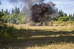 Esplosione in foresta Fotografie Stock