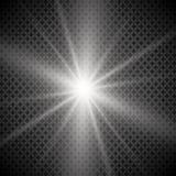 Esplosione leggera d'ardore bianca di scoppio con trasparente L'illustrazione di vettore per la decorazione fresca di effetto con illustrazione di stock