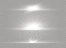 Esplosione leggera d'ardore bianca di scoppio su fondo trasparente Decorazione di effetto della luce dell'illustrazione di vettor fotografia stock libera da diritti