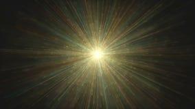 Esplosione leggera variopinta del fondo dell'estratto di Big Bang stock footage