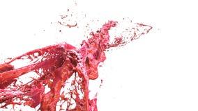 Esplosione liquida in un'illustrazione della spruzzata 3d Fotografia Stock Libera da Diritti