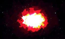 Esplosione luminosa nello spazio Fotografie Stock Libere da Diritti