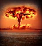 Esplosione moderna della bomba nucleare Immagine Stock