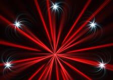 Esplosione multicolore dei fuochi d'artificio Royalty Illustrazione gratis