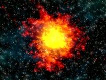 Esplosione nello spazio Fotografie Stock Libere da Diritti