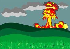 Esplosione nucleare Fotografia Stock