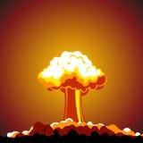 Esplosione nucleare del fumetto illustrazione vettoriale