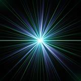 Esplosione psichedelica variopinta di energia di laser illustrazione vettoriale
