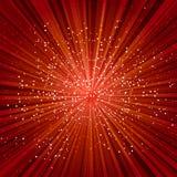 Esplosione rossa Fotografia Stock Libera da Diritti