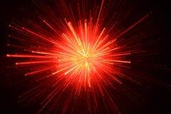 Esplosione scintillante rossa Fotografie Stock Libere da Diritti