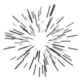 Esplosione solare, sole di scoppio della stella illustrazione vettoriale