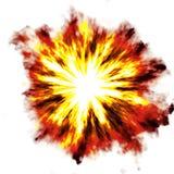 Esplosione sopra bianco Fotografie Stock Libere da Diritti