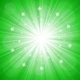 Esplosione su verde Immagine Stock Libera da Diritti