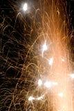 Esplosioni alla notte Fotografia Stock