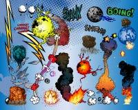 Esplosioni del libro di fumetti Fotografia Stock Libera da Diritti