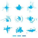 Esplosioni elettroniche. Elementi di disegno. Immagini Stock