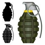 Esplosivo della granata a mano dell'ananas Fotografie Stock Libere da Diritti