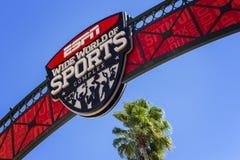 ESPN bred värld av sportar, Florida, USA, 4 Januari 2016 Arkivbilder