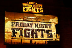 ESPN Friday Night Fights sign Royalty Free Stock Images
