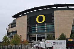 ESPN Game day. Comes to Eugene Oregon on October 15, 2011.  The 9th ranked Oregon Ducks will play number 18 Arizona State Royalty Free Stock Photography