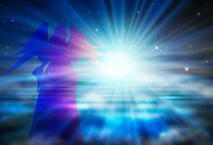 Espoir, confiance, foi dans le concept spirituel de renaissance de Dieu illustration libre de droits