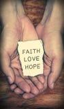 Espoir d'amour de foi Photo libre de droits