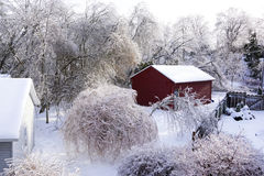 Espoir de port de tempête de pluie verglaçante - 22 décembre 2013 Ontario du sud Images libres de droits