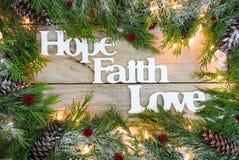 Espoir de vacances, foi, signe d'amour Image libre de droits