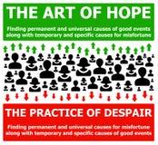 Espoir et désespoir illustration libre de droits