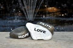 Espoir et foi d'amour Photos stock