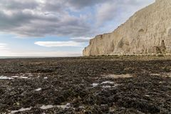 Espoir Gap, le Sussex est, R-U photo libre de droits