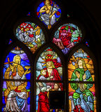 Espoir Jesus Stained Glass De Krijtberg Amsterdam Pays-Bas d'amour de foi Photographie stock libre de droits