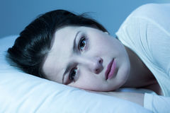 Espoir peu d'heures de sommeil Images stock