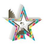 Espolón colorido del deco de la estrella Fotos de archivo libres de regalías