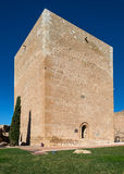 Espolon Tower at Lorca Castle Stock Images