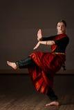 Esponente del ballo di Bharatanatyam Immagini Stock