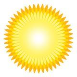 Esponga al sole l'icona con le intaccature come vettore su un fondo isolato Fotografia Stock