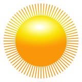 Esponga al sole l'icona con le intaccature come vettore su un fondo isolato Fotografie Stock Libere da Diritti