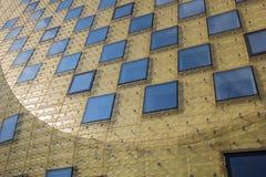 Esponga al sole la riflessione nel municipio di Hardenberg fotografia stock