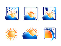 Esponga all'aria l'insieme dell'icona Fotografie Stock
