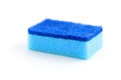 Esponja azul isolada no branco Imagem de Stock Royalty Free