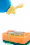 Esponja con el detergente imagen de archivo libre de regalías