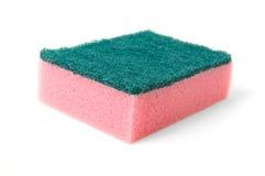 Esponja cor-de-rosa da limpeza foto de stock