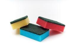 Esponja de lavagem do prato Fotografia de Stock
