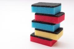Esponja de lavagem do prato Fotos de Stock
