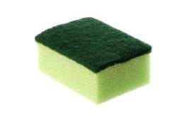 Esponja de lavagem do prato isolada Imagens de Stock